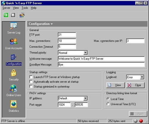 Quick and Easy FTP Server