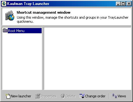 Tray Launcher